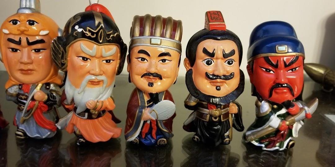 三國Q版陶瓷公仔