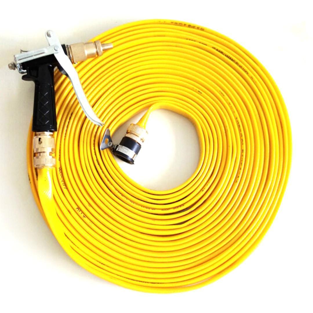 Semprotan Cuci Mobil dengan Selang Air 1/3 10 Meter - Yellow