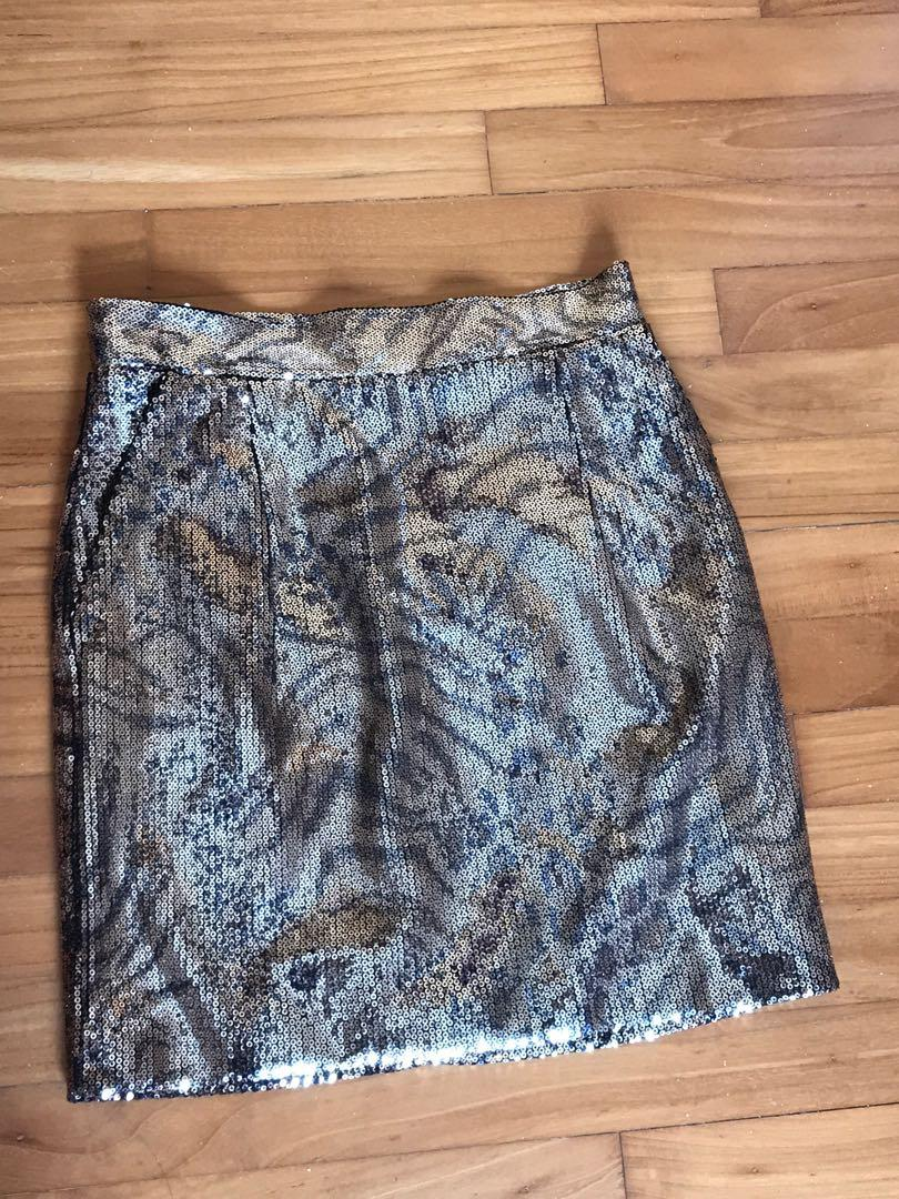 Sequinned Zara Mini Skirt