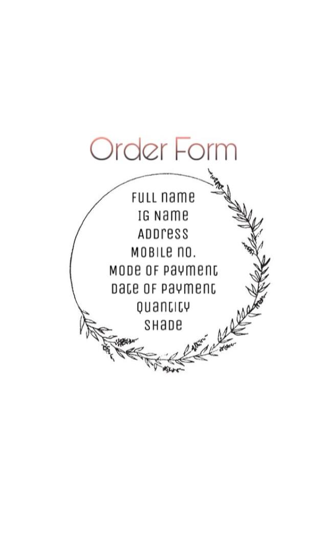 order form ig  SHOP RULES AND ORDER FORM on Carousell