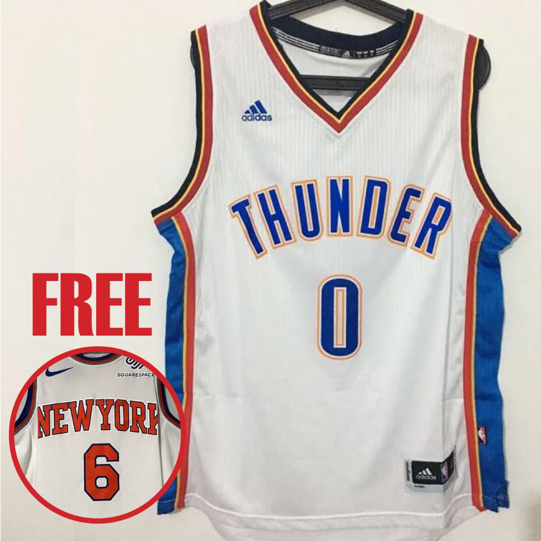 buy online 12139 73f34 [Stock Clearance Sale] Oklahoma City Thunder #0 Russell Westbrook New  Swingman Jersey