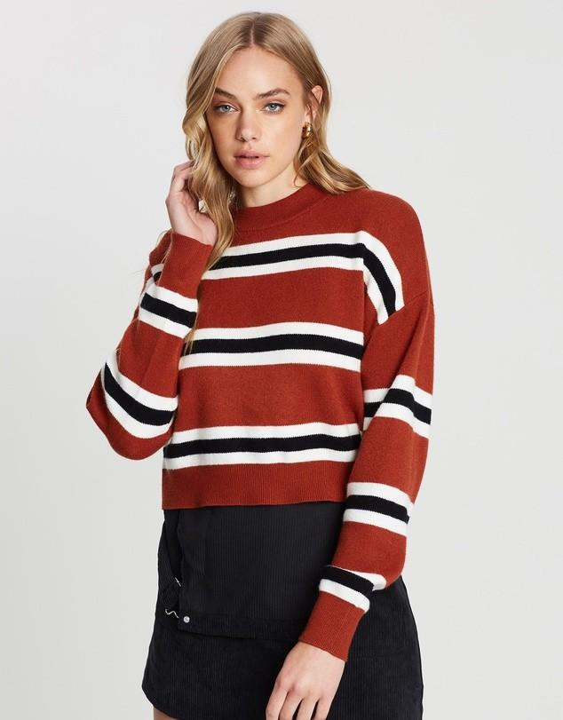 Striped cropped sweater / pullover