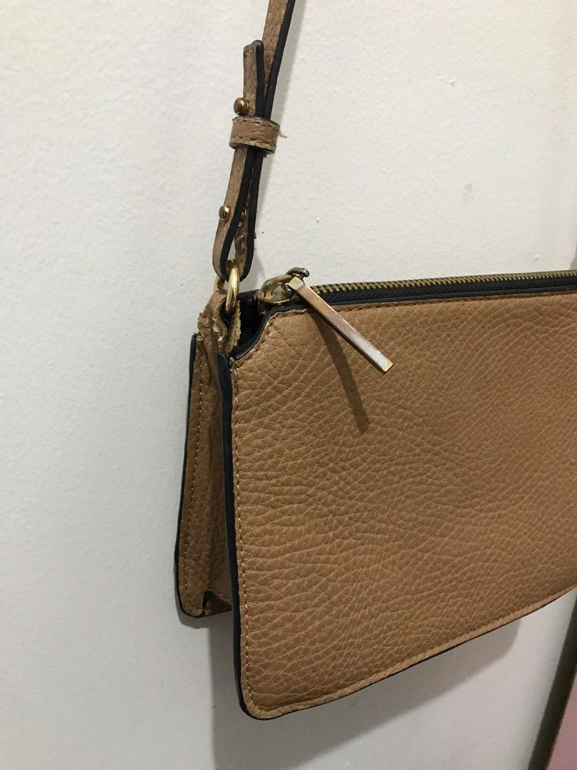 Mango Bag Brown Tas Kecil Clutch Fashion