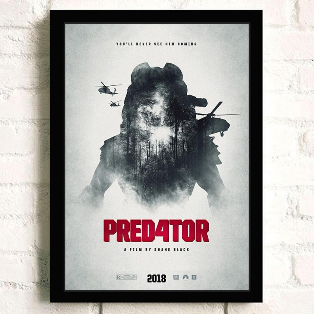 The Predator Poster with Black Frame, Design & Craft, Art