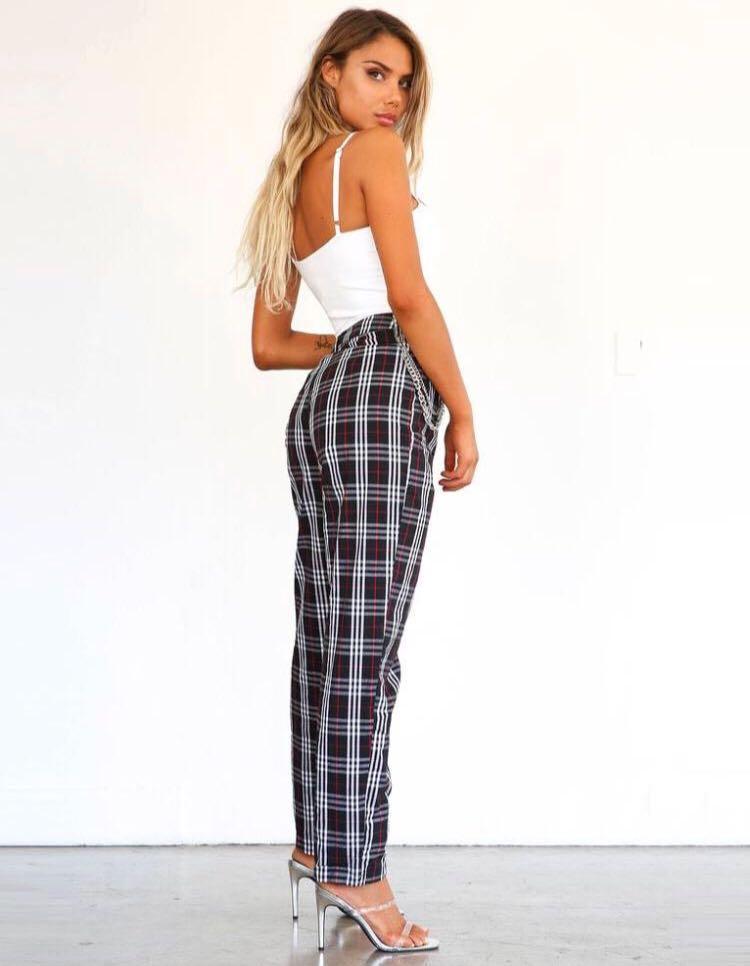 TIGER MIST plaid pants size XS