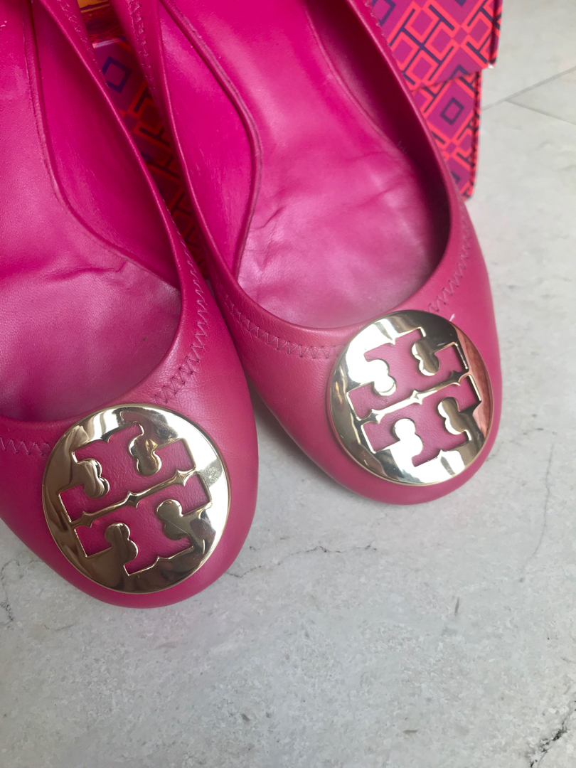 tory burch shoes pink