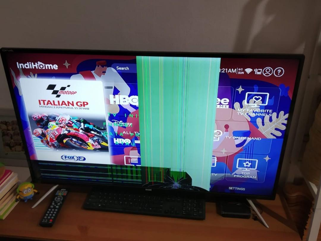 TV LED 40inch merk Akari - Minus LCD Retak #MauTHR