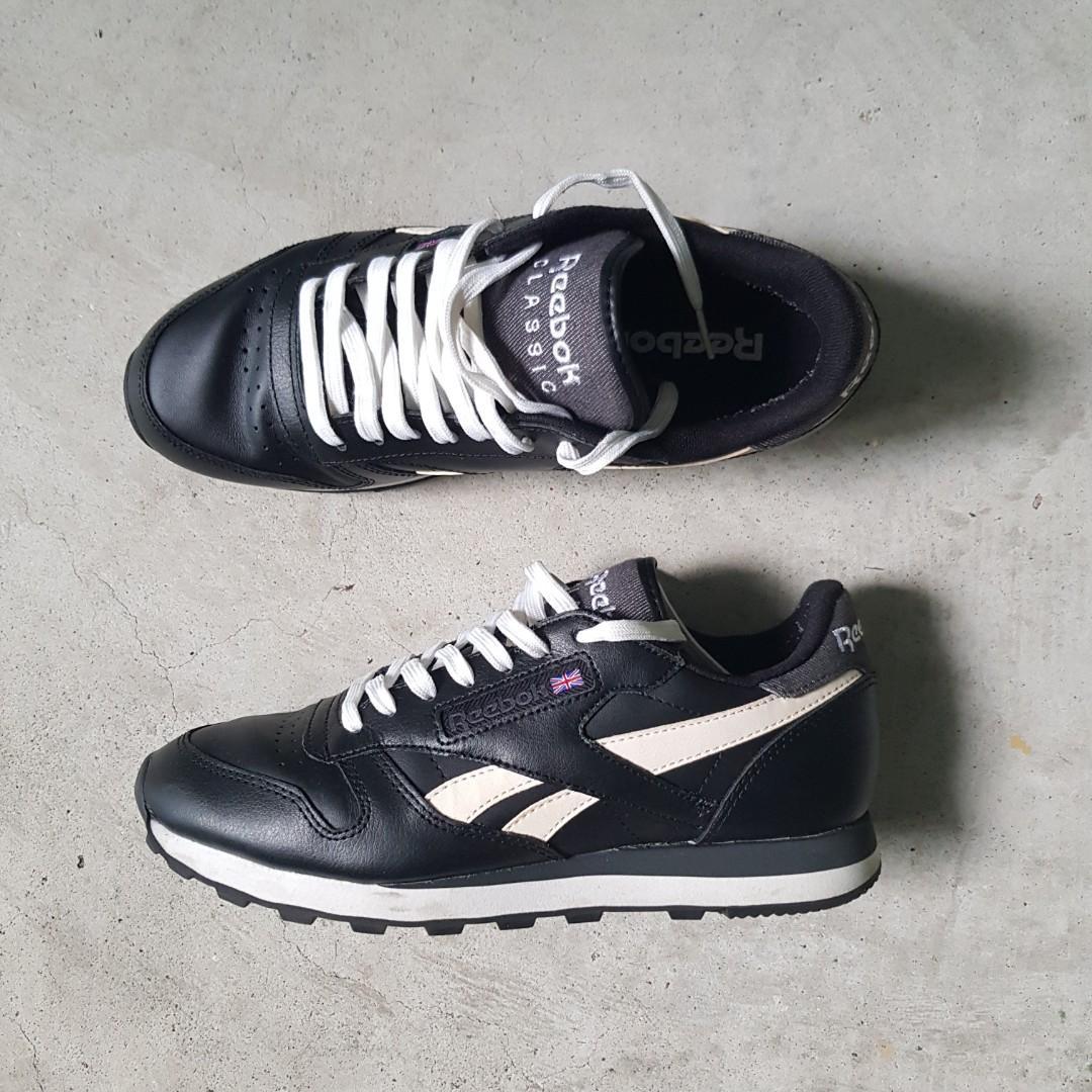 ataque Intento retirada  US 8.5 REEBOK CLASSIC LEATHER (BLACK), Men's Fashion, Footwear, Sneakers on  Carousell