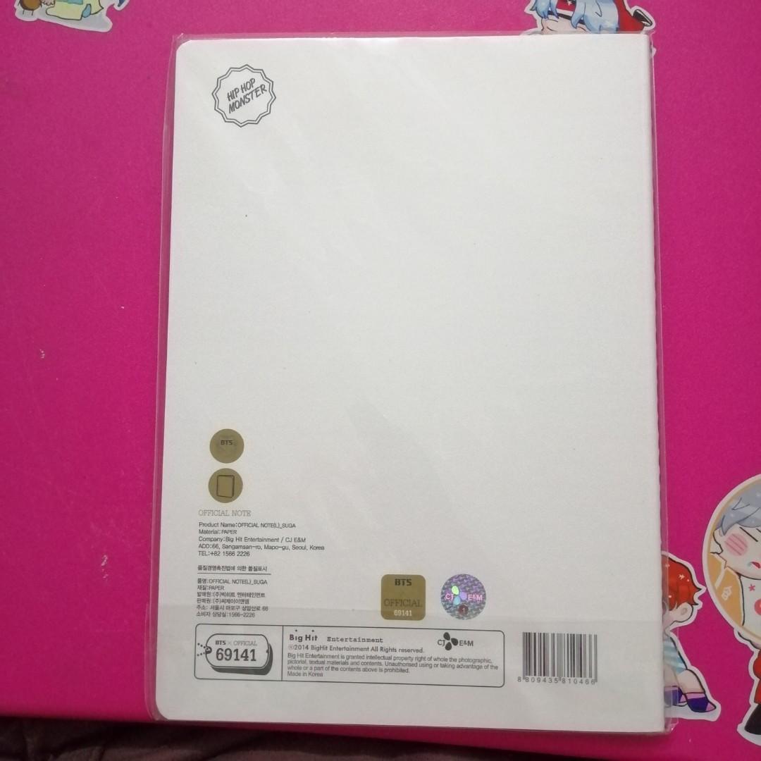 [WTS] BTS Hip Hop Monster official notebook (L) - Suga