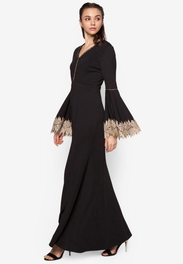 Zalia S Mermaid Dress Black Gold