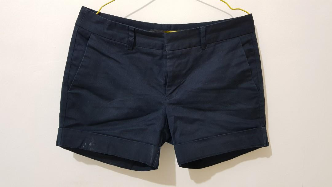 Zara Basic Short Pants - Navy