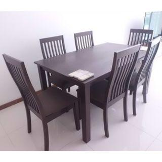 Snap Sale! Solid Wood dining table 6 chairs $350 only!
