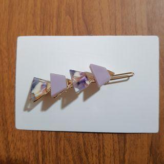 Clips - lavender triangle