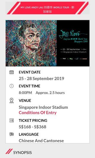 Andy Lau's Concert Tickets