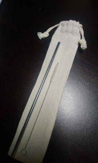 不銹鋼飲管連清潔刷