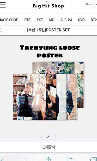 [WTS] TAEHYUNG LOOSE MUSTER POSTER