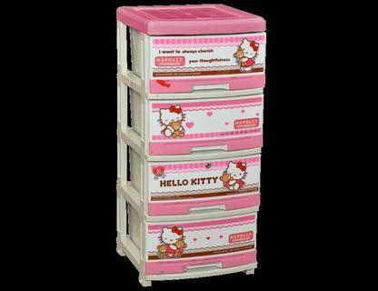 Lemari Plastik Hello kitty 4 susun