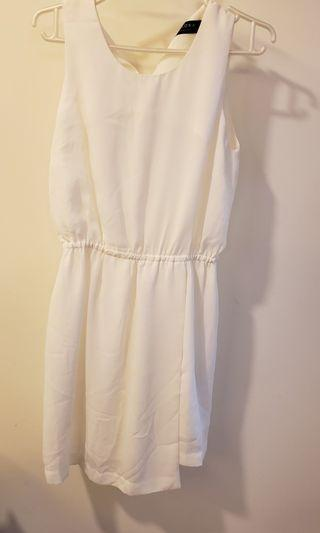 斯文裙 白色 white dress