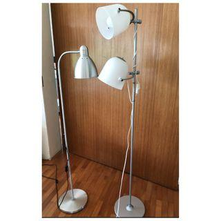 2 standing Lamps for sale