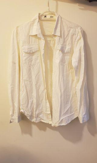 襯衫 white dress shirt women