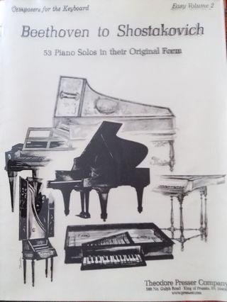 (琴譜) Beethoven to Shostakovich - 53 piano solos in their original form