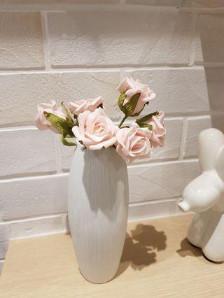 White Ceramic Vase Minimalist Scandi