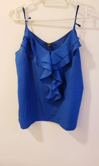 吊帶背心 藍色 forever 21 blue tank top