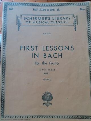 (琴譜) First lessons in Bach for the piano - Book I (Carroll)