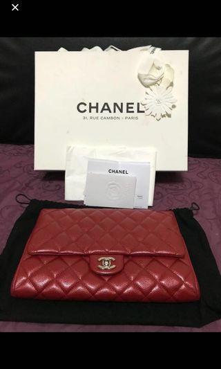 Chanel Red Handbag @ Clutch