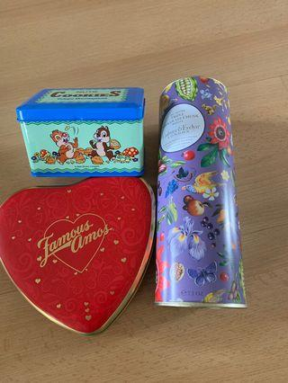 Cookies tins/containers