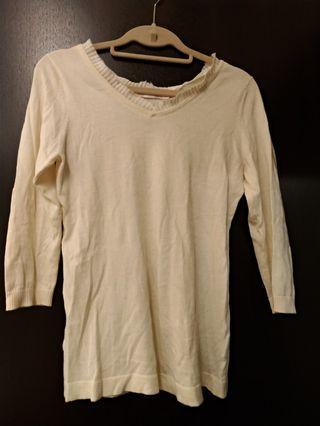 🚚 IENA米色棉針織衫