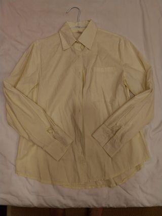 🚚 鵝黃棉襯衫