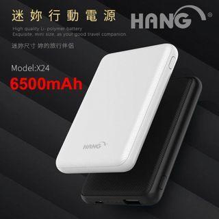 🚚 HANG X24 6500mAh 口袋型行動電源 移動電源 LED電量指示燈 2A充電 雙USB輸出