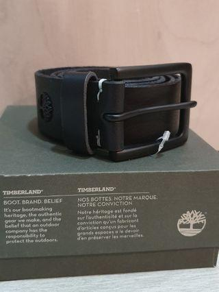 Timberland black belt with matt black buckle