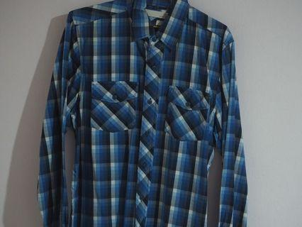 🚚 BLUE CHECKERED FLANNEL