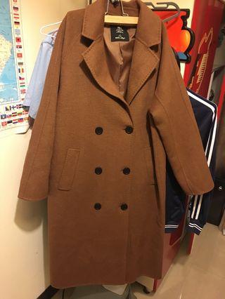 🚚 Net棕色大衣