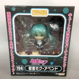 玩具出清 Goodsmile Company GSC Nendoroid 黏土人 194 Vocaloid Hatsune Miku Append 初音未來