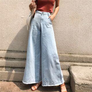Women Wide Leg Korean Loose Jeans