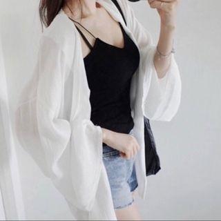 夏季韓版 雪紡上衣 雪紡罩衫
