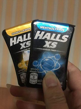 🚚 HALLS XS 無糖迷你薄荷糖。(薄荷&蜂蜜檸檬 口味)