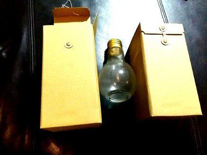 Decorative Lightbulb Container @ $10 each