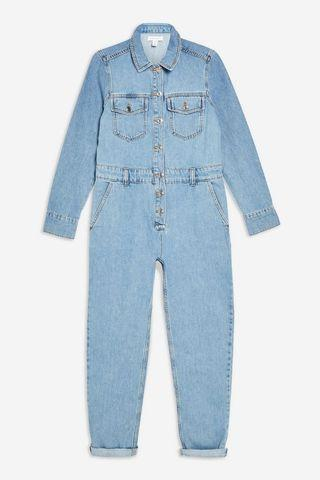 NWT TOPSHOP Denim Jumpsuit!