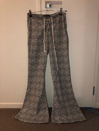 Flare pants leopard print