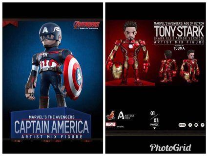Hottoys Tony Stark Captain America Artist Mix Touma Avengers Marvel