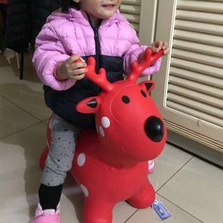 麋鹿紅色 寶寶跳跳馬(面交)