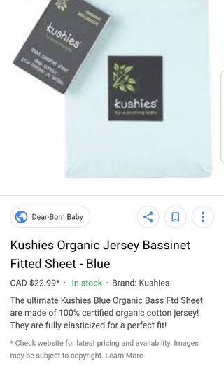 Kushies organic cotton flannel fitted sheets.  Practically new. I have 12  of these for sale but selling these for $8 each or all 3 for $17. I purchased these brand new for $23 each from dear born baby. Pick up