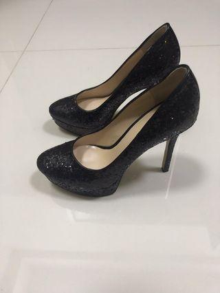 Nine west black heels sparking