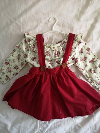 🚚 Brand new red baby dress