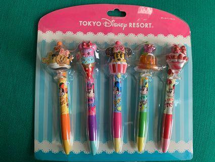 Tokyo Disney一套5支食物造型原子筆