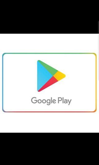 Google Play Store Gift Card 50/20/30 SGD